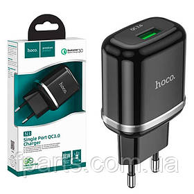 СЗУ HOCO N3 Quick Charge 3.0A, 18W, 1USB, Black