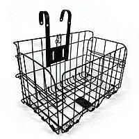 Велосипедная корзина складывающаяся металлическая чёрная, фото 1