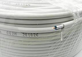 Кабель радіочастотний RG-58 МОНО 1*0,8 mm+96*0,1 білий