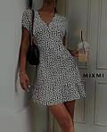 Женское платье, принт-жатка, р-р 42-44; 44-46 (белый), фото 3