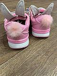 Кросівки рожеві з вушками: 26,27,28,29,30,31, фото 2