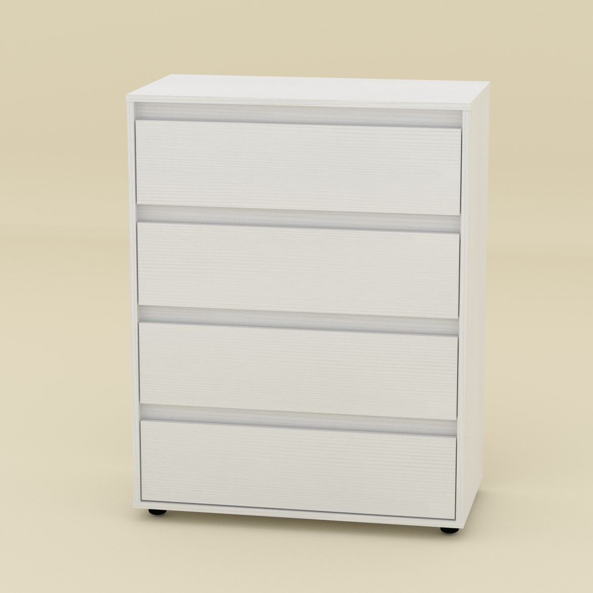 Комод 4 Компаніт Білий (new1-1013)