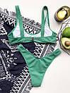 Жіночий купальник зеленого кольору з відкритим топом і плавками бразилианы (р. S, M) 7725908, фото 3