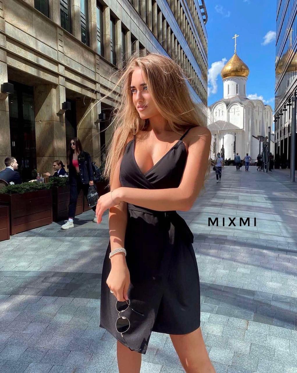 Женское платье, софт, р-р универсальный 42-46 (черный)