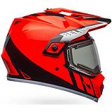 Шолом з підігрівом Bell Orange/Black MX-9 Adventure Mips Snow, фото 2