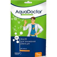 Химия для бассейна средство для снижения уровня РН  AQUADOCTOR PH MINUS 1 кг