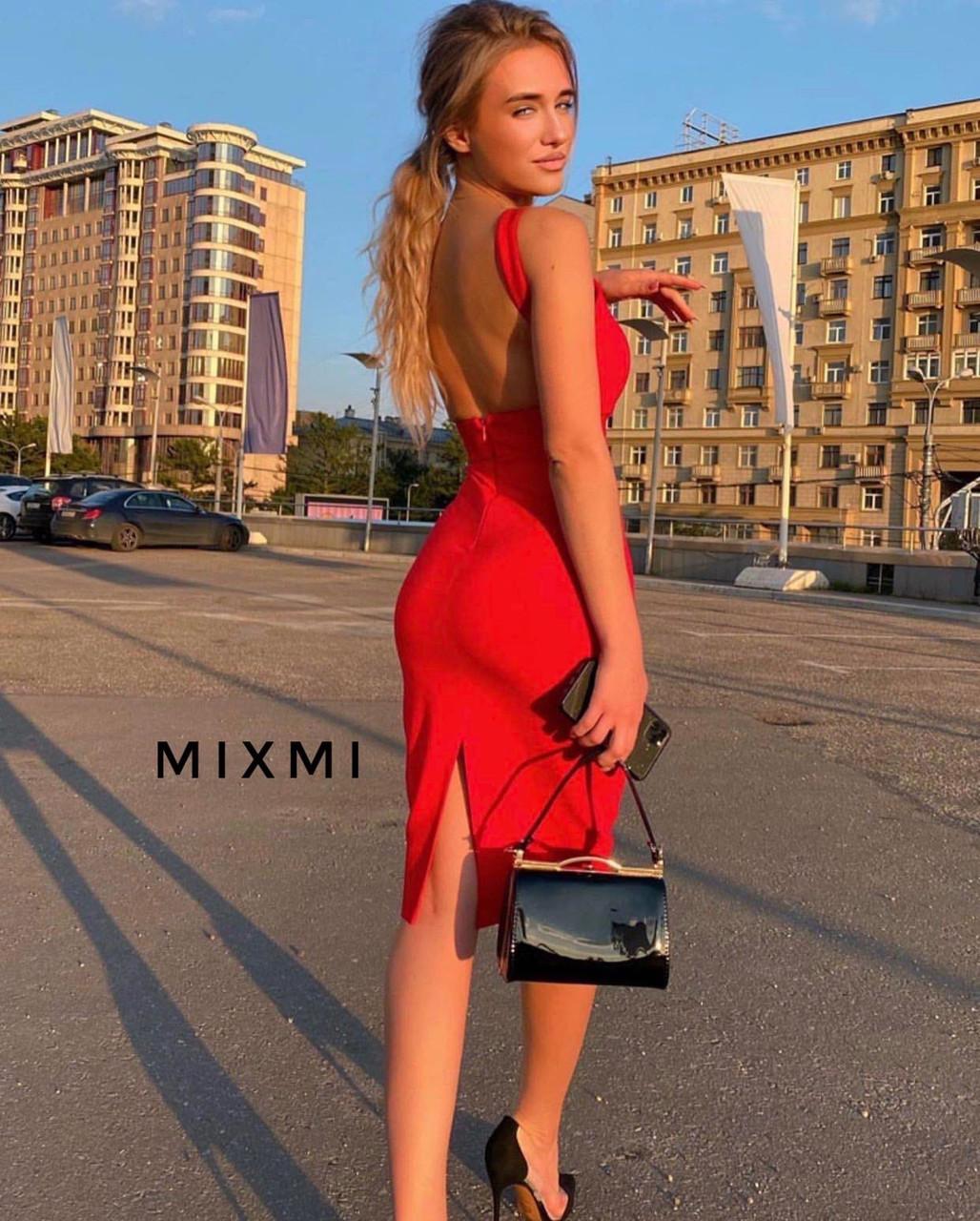 Жіноче плаття, креп-дайвінг, р-р 42-44; 44-46 (червоний)