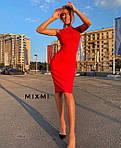 Жіноче плаття, креп-дайвінг, р-р 42-44; 44-46 (червоний), фото 2