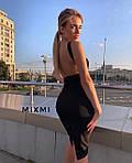 Жіноче плаття, креп-дайвінг, р-р 42-44; 44-46 (чорний), фото 2
