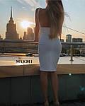 Жіноче плаття, креп-дайвінг, р-р 42-44; 44-46 (білий), фото 3