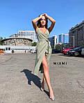 Жіноче плаття, софт, р-р універсальний 42-46 (хакі), фото 2