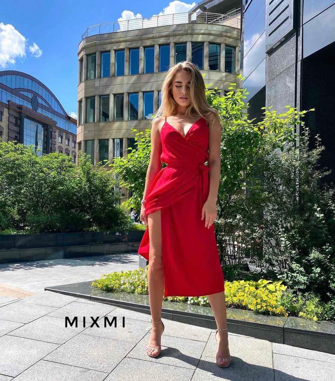 Женское платье, софт, р-р универсальный 42-46 (красный)