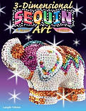 Фігурка з паєток набір для дитячої творчості 3D Слон Sequin Art, фото 2