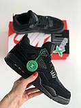 Кросівки Nike Air Jordan Retro 4 / Джордан Black, фото 6