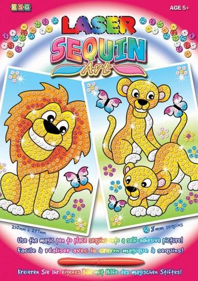 Картини з блискіток для дітей набір для дитячої творчості Леви Sequin Art