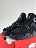 Кросівки Nike Air Jordan Retro 4 / Джордан Black, фото 4