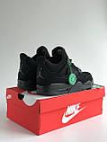 Кросівки Nike Air Jordan Retro 4 / Джордан Black, фото 3