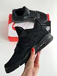 Кросівки Nike Air Jordan Retro 4 / Джордан Black, фото 7