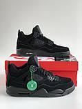 Кросівки Nike Air Jordan Retro 4 / Джордан Black, фото 2