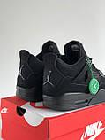 Кросівки Nike Air Jordan Retro 4 / Джордан Black, фото 5