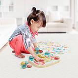 Мозаика для самых маленьких (большие фишки (21 шт.) + доска) Play Bio, Quercetti, Мозаика детская, фото 4