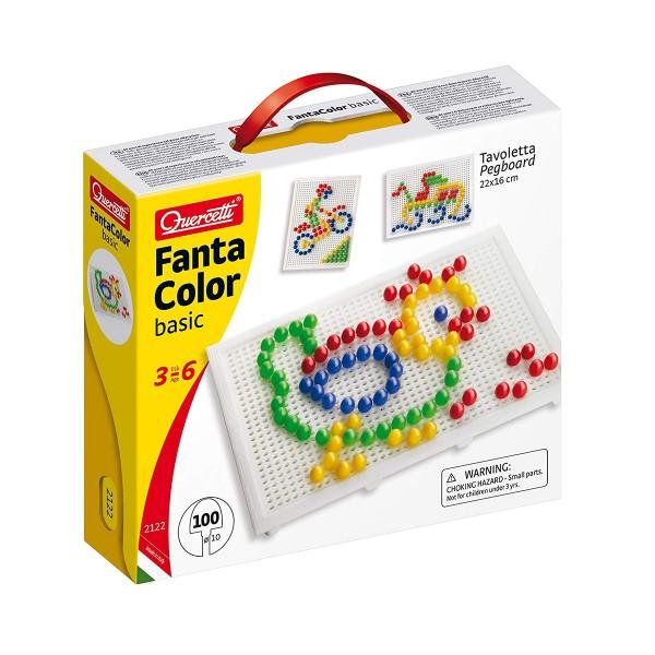 Мелкая мозаика для детей (100 Фишек 10 Мм + Доска 22Х16) Quercetti, Мозаика детская