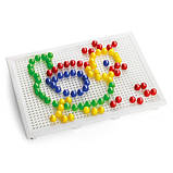Мелкая мозаика для детей (100 Фишек 10 Мм + Доска 22Х16) Quercetti, Мозаика детская, фото 2