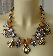 Ожерелье женское колье модное металл ювелирная бижутерия 4825, фото 1