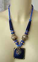 Ожерелье женское колье бусы ручная работа 4827