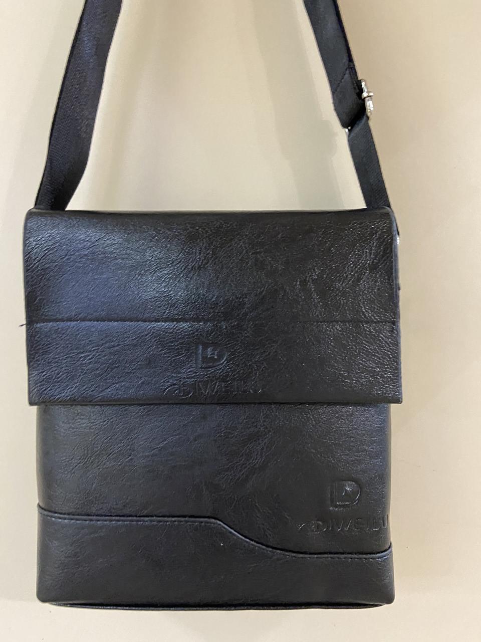 Чоловіча сумка розмір 20 х 22 см колір чорний