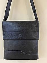 Мужская  сумка барсетка размер 24.5 х 22 см цвет черный и коричневый