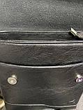 Чоловіча сумка розмір 20 х 22 см колір чорний, фото 5