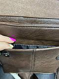 Чоловіча сумка розмір 20 х 22 см колір чорний, фото 6