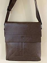 Мужская  сумка барсетка размер 24.5 х 22 см цвет черный и коричневый коричневая