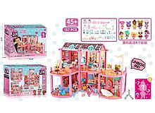 Игровой кукольный домик ЛОЛ ВВ 003 с мебелью ,8 кукол