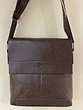 Чоловіча сумка розмір 20 х 22 см колір чорний, фото 7