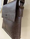 Чоловіча сумка розмір 20 х 22 см колір чорний, фото 9