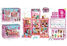 Игровой кукольный домик ЛОЛ ВВ 005 с мебелью , 8 куколок