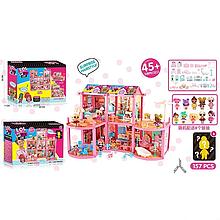 Игровой кукольный домик ЛОЛ ВВ 013 с мебелью ,8 кукол