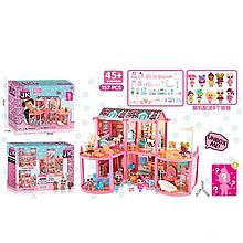 Игровой кукольный домик ЛОЛ ВВ 014 с мебелью и куклами