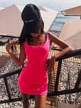 Короткое платье майка с U - образным вырезом (р. 42-44) 5032704, фото 3
