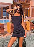 Короткое платье майка с U - образным вырезом (р. 42-44) 5032704, фото 6