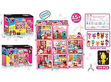 Игровой кукольный домик ЛОЛ ВВ 016 с мебелью и куклами