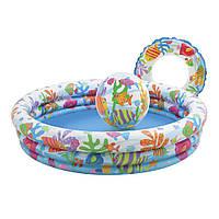 Дитячий надувний басейн Intex 59469 + коло + м'яч