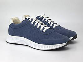 Кроссовки мужские синие летние замшевые с перфорацией обувь Rosso Avangard Ada Perf Vel Blu