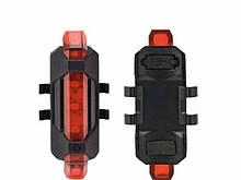 Фонарь Велосипедный с встроенный аккумулятор Li-ion BS-216 USB красный (240)