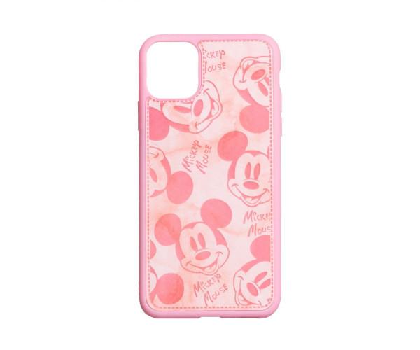 Чехол Микки Маус для Apple Iphone 11, Красный / Черный