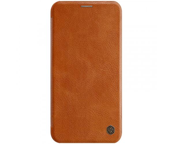 Кожаный чехол (книжка) Nillkin Qin Series для Apple iPhone 11 Pro Max,Коричневый