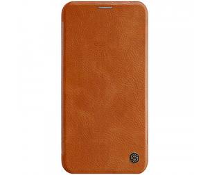 Кожаный чехол (книжка) Nillkin Qin Series для Apple iPhone 11 Pro Max,Коричневый, фото 2
