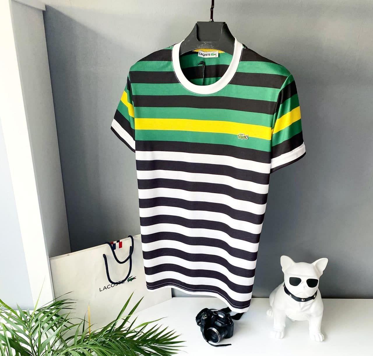 Чоловіча біла футболка lacoste (репліка)